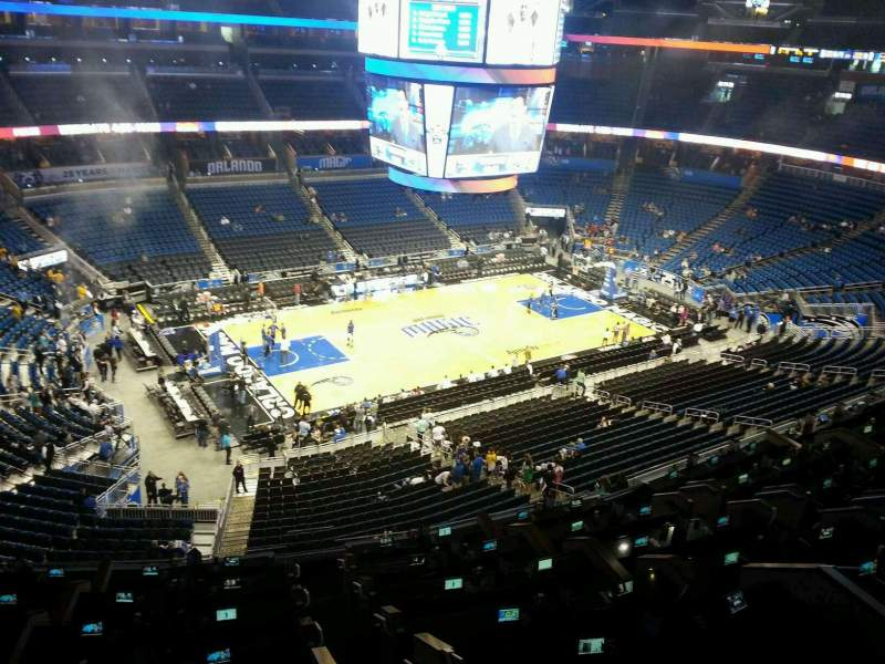 Seating view for Amway Center Section 228 Row 1 Seat 4