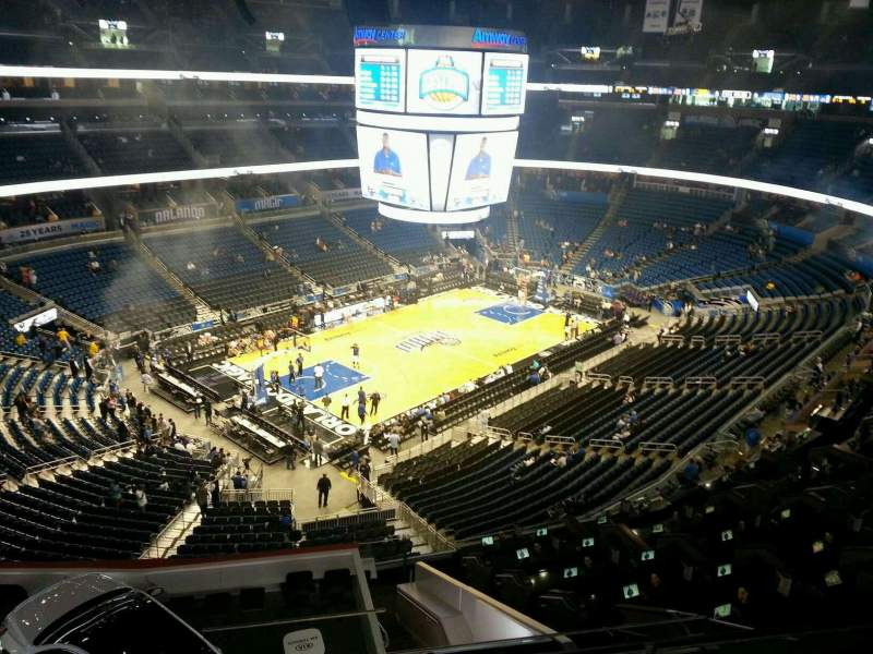 Seating view for Amway Center Section 229 Row 2 Seat 9