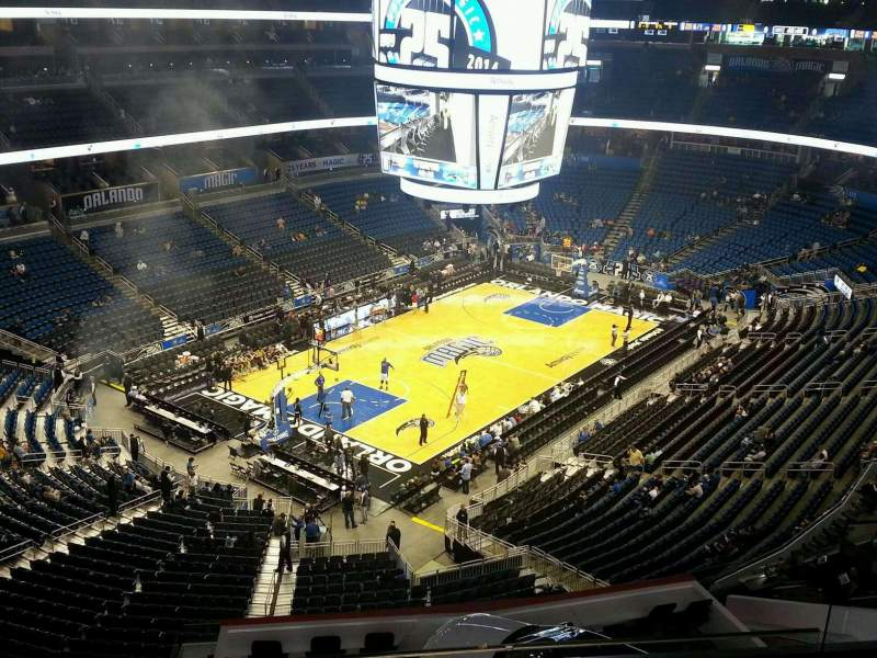 Seating view for Amway Center Section 230 Row 4 Seat 4