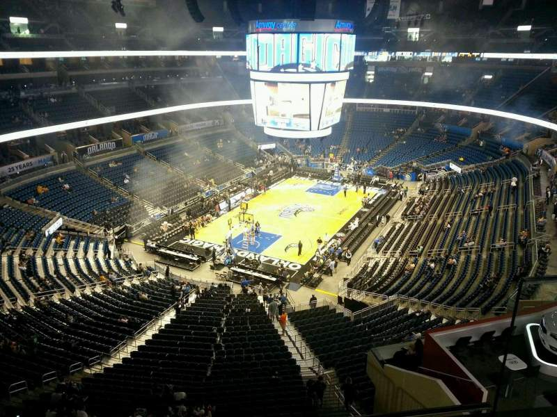Seating view for Amway Center Section 231 Row 2 Seat 2