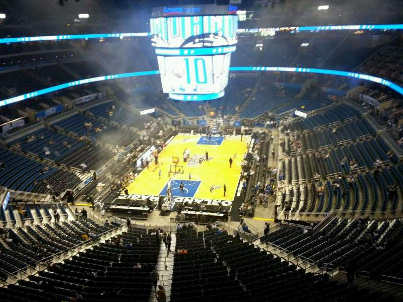 Seating view for Amway Center Section 232 Row 2 Seat 5
