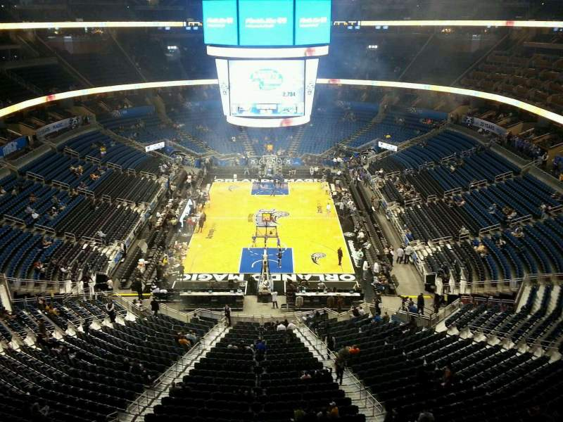 Seating view for Amway Center Section 201 Row 2 Seat 7
