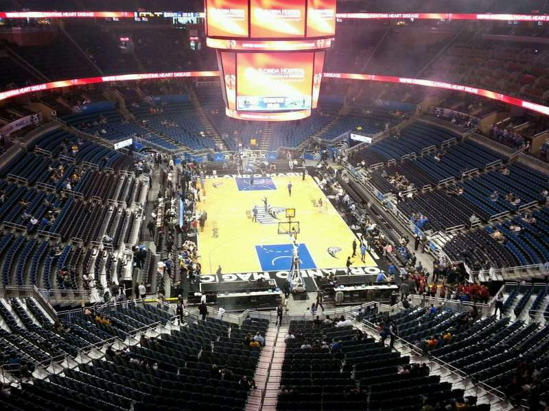Seating view for Amway Center Section 202 Row 2 Seat 5