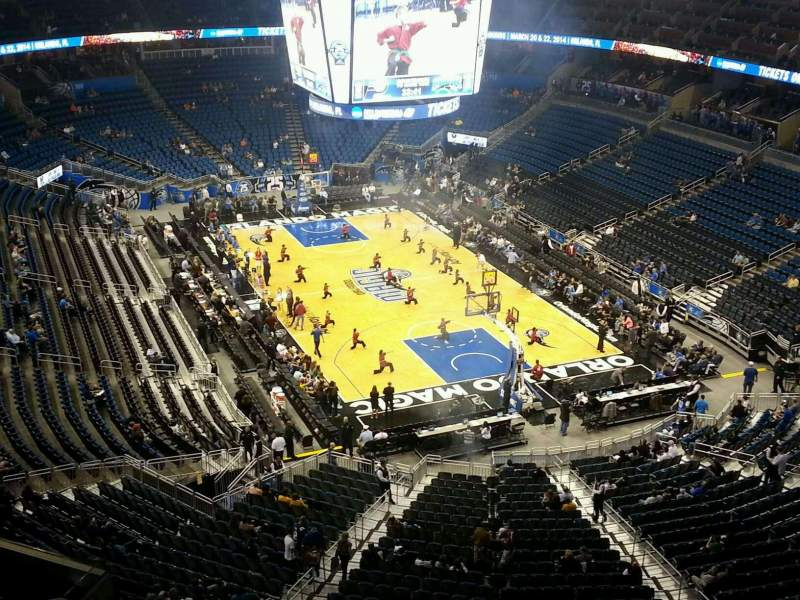 Seating view for Amway Center Section 203 Row 3 Seat 11