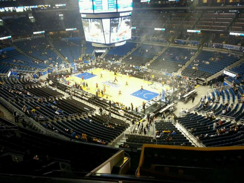 Seating view for Amway Center Section 205 Row 2 Seat 10
