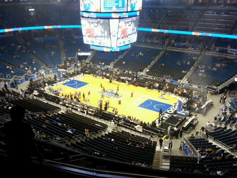 Seating view for Amway Center Section 206 Row 4 Seat 10
