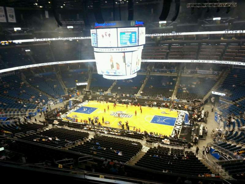 Seating view for Amway Center Section 207 Row 3 Seat 12
