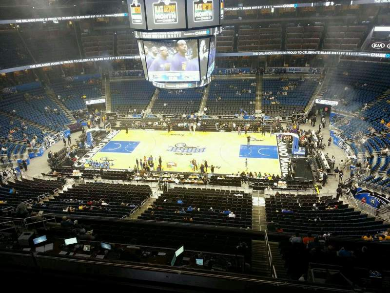Seating view for Amway Center Section 208 Row 2 Seat 10