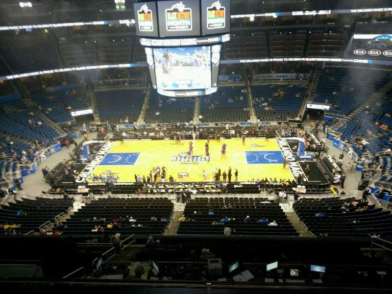 Seating view for Amway Center Section 209 Row 2 Seat 3