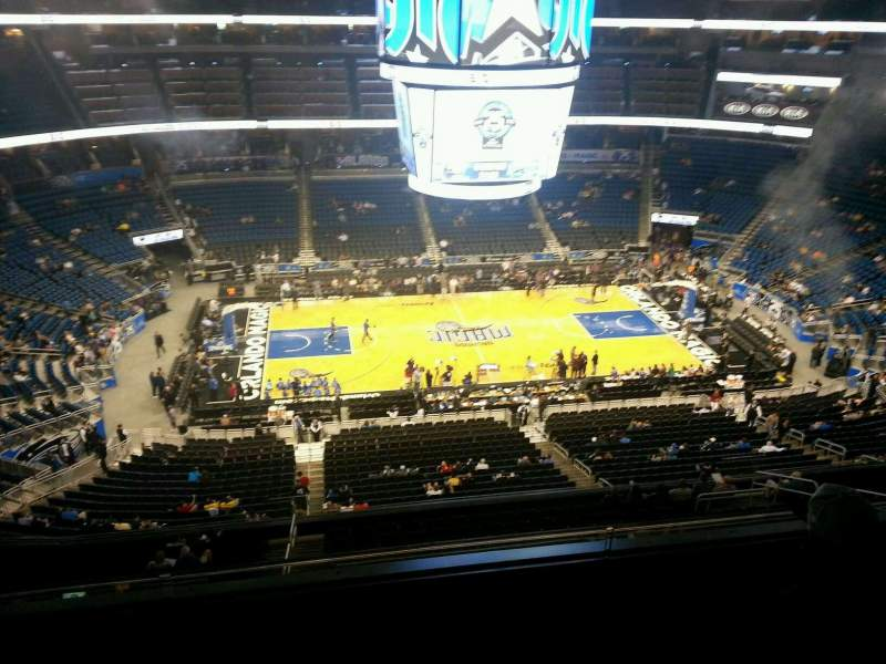 Seating view for Amway Center Section 210 Row 3 Seat 8