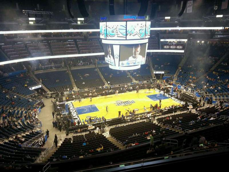 Seating view for Amway Center Section 211 Row 3 Seat 10
