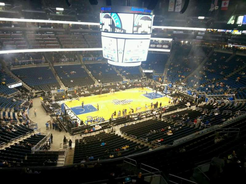Seating view for Amway Center Section 212 Row 1 Seat 6