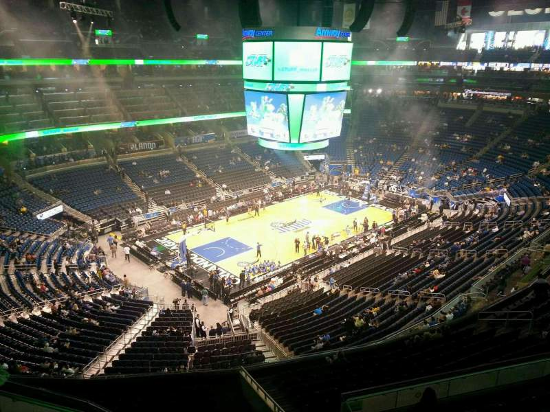 Seating view for Amway Center Section 213 Row 2 Seat 6