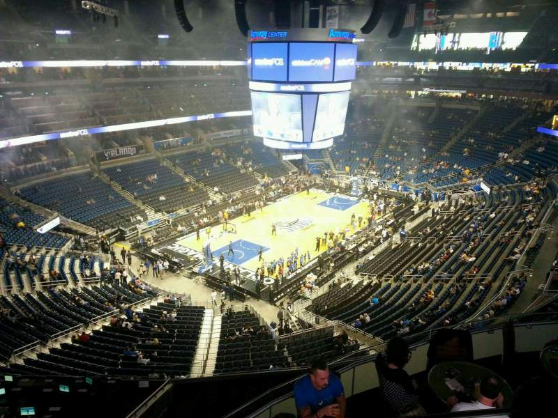 Seating view for Amway Center Section 214 Row 2 Seat 4