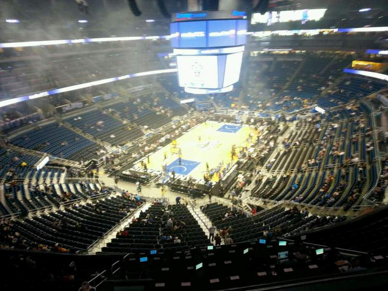 Seating view for Amway Center Section 215 Row 2 Seat 4