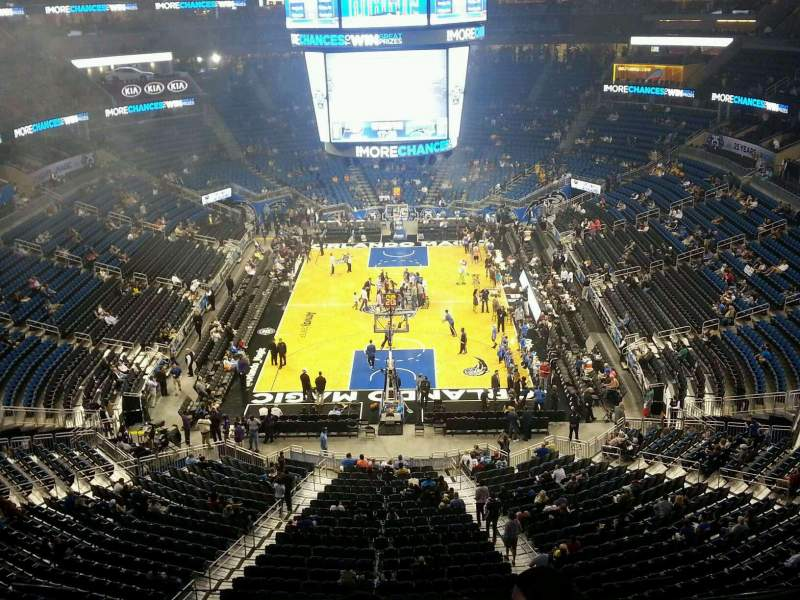 Seating view for Amway Center Section 217 Row 1 Seat 6