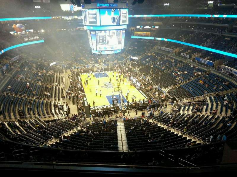 Seating view for Amway Center Section 218 Row 3 Seat 12