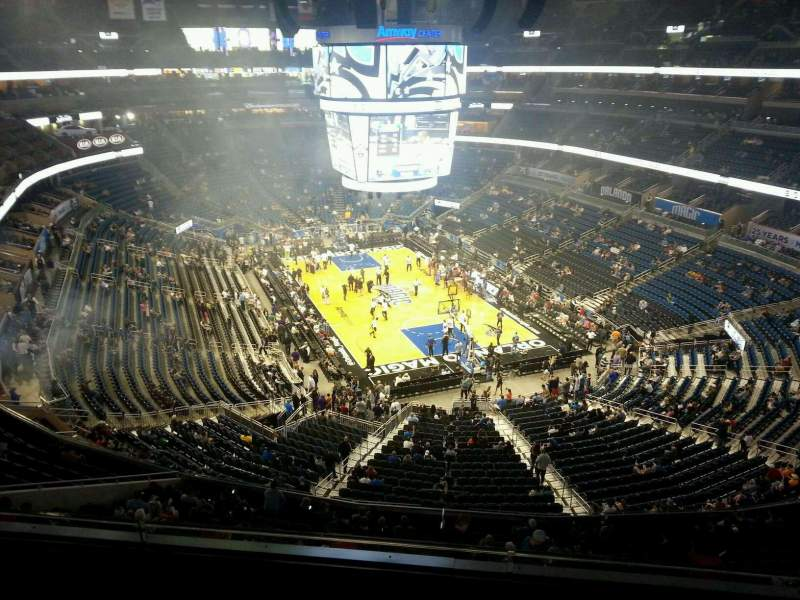 Seating view for Amway Center Section 219 Row 3 Seat 19