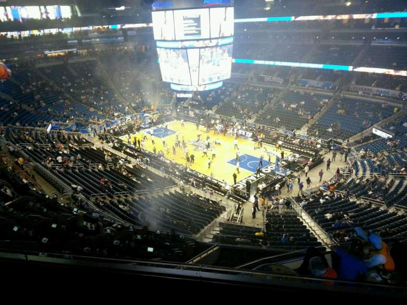 Seating view for Amway Center Section 221 Row 3 Seat 10