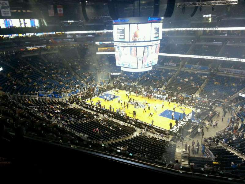 Seating view for Amway Center Section 222 Row 4 Seat 11