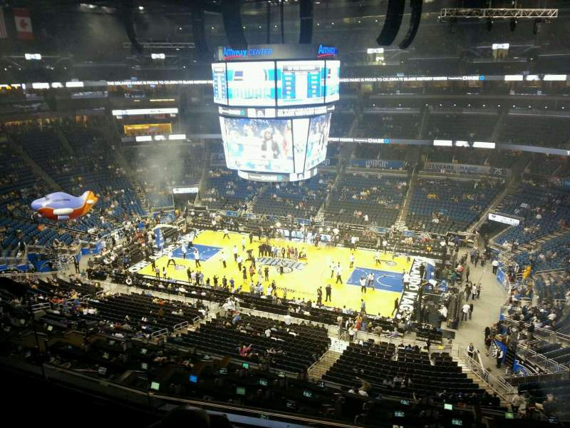 Seating view for Amway Center Section 223 Row 3 Seat 13
