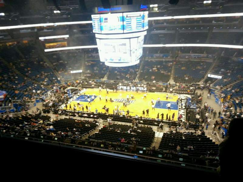 Seating view for Amway Center Section 224 Row 4 Seat 2