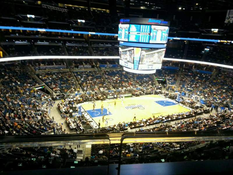 Seating view for Amway Center Section 228 Row 1 Seat 7