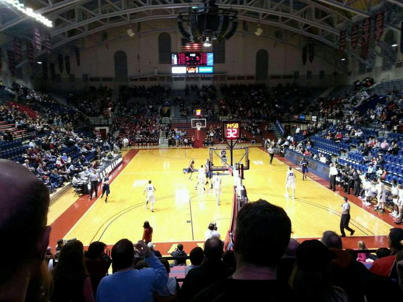 Seating view for Palestra Section 209 Row 8 Seat 14