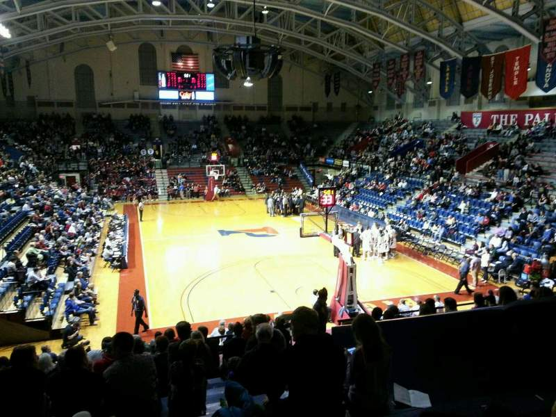 Seating view for Palestra Section 210 Row 14 Seat 7