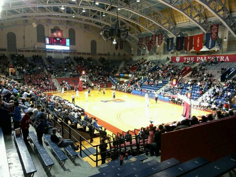 Seating view for Palestra Section 211 Row 12 Seat 10