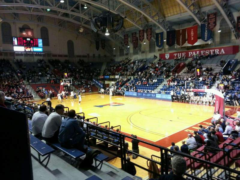 Seating view for Palestra Section 212 Row 5 Seat 5
