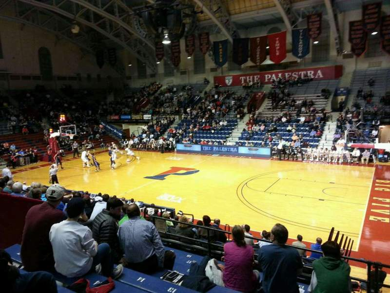 Seating view for Palestra Section 213 Row 10 Seat 8