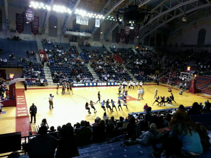 Seating view for Palestra Section 205 Row 11 Seat 12