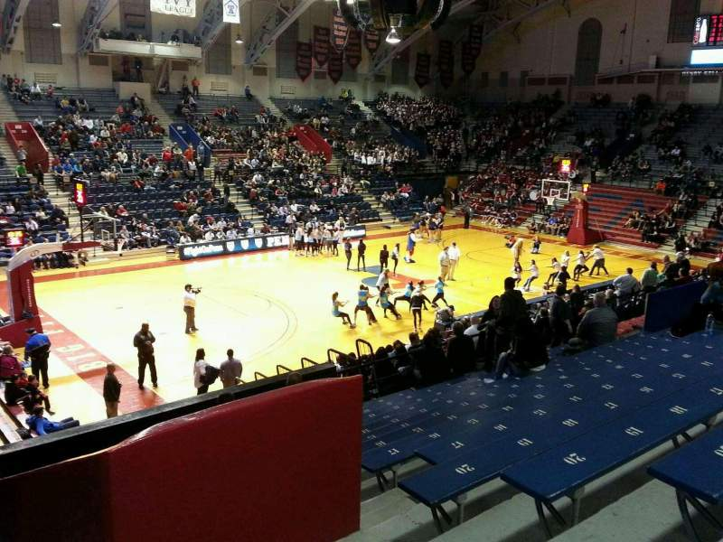Seating view for Palestra Section 206 Row 14 Seat 3