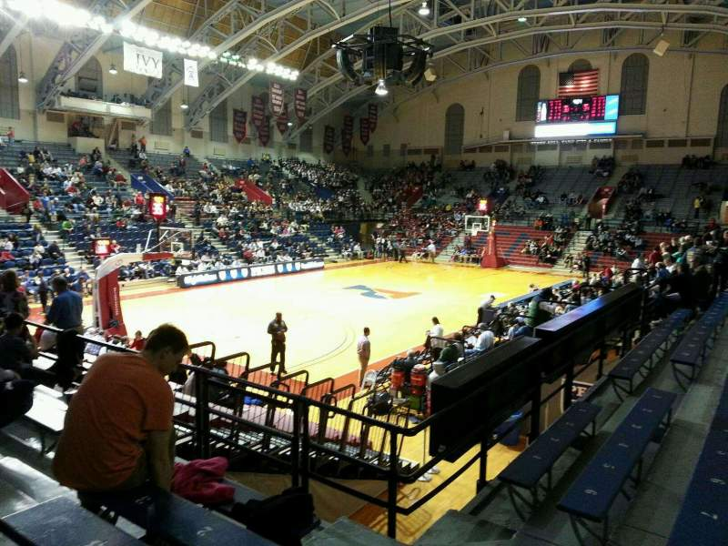 Seating view for Palestra Section 207 Row 4 Seat 1