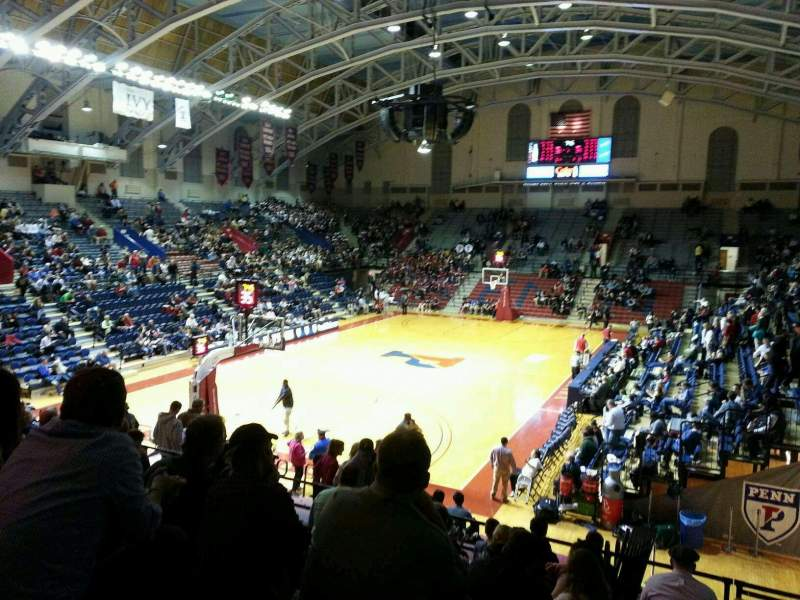 Seating view for Palestra Section 208 Row 12 Seat 1