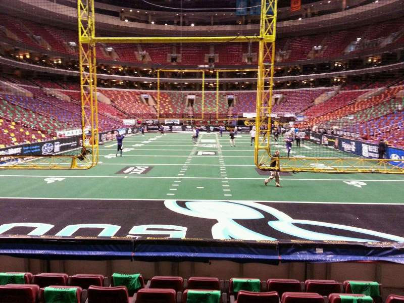Seating view for Wells Fargo Center Section 119 Row 7 Seat 8