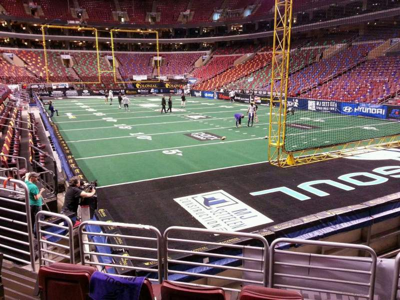 Seating view for Wells Fargo Center Section 117 Row 9 Seat 8