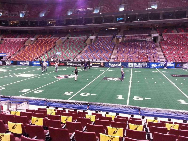 Seating view for Wells Fargo Center Section 114 Row 9 Seat 10