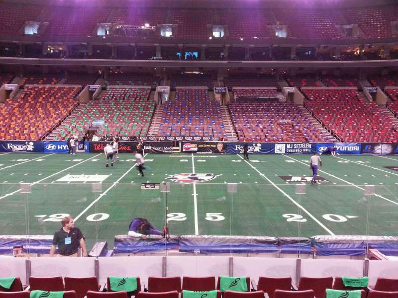 Seating view for Wells Fargo Center Section 113 Row 9 Seat 8