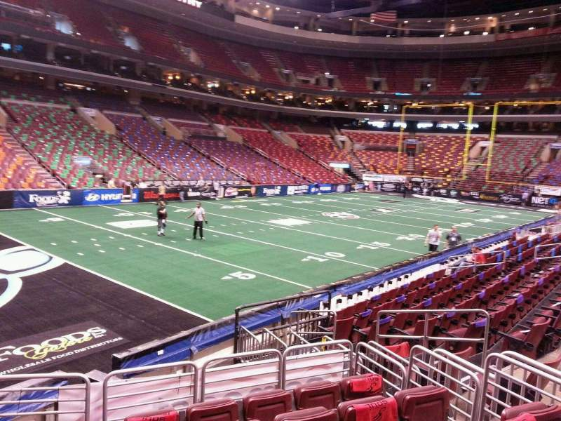 Seating view for Wells Fargo Center Section 110 Row 11 Seat 4