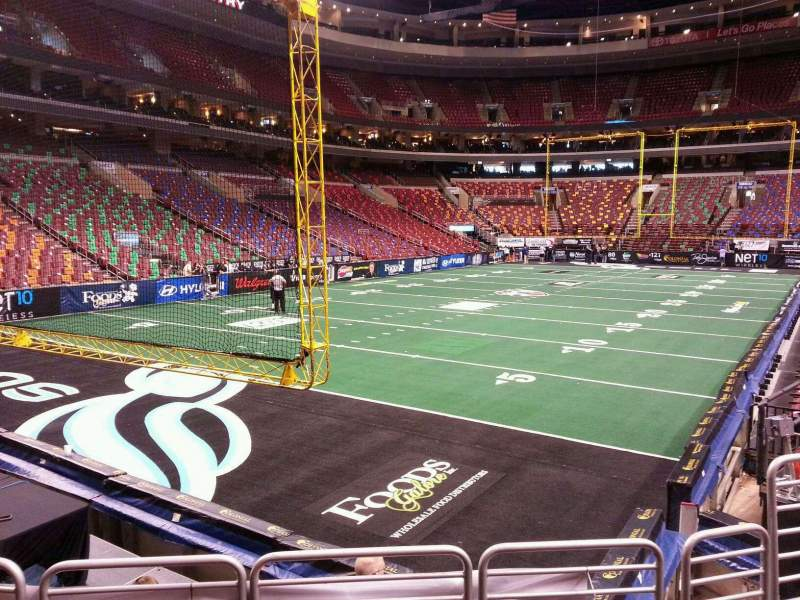 Seating view for Wells Fargo Center Section 109 Row 9 Seat 7