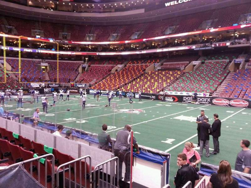 Seating view for Wells Fargo Center Section 102 Row 7 Seat 17