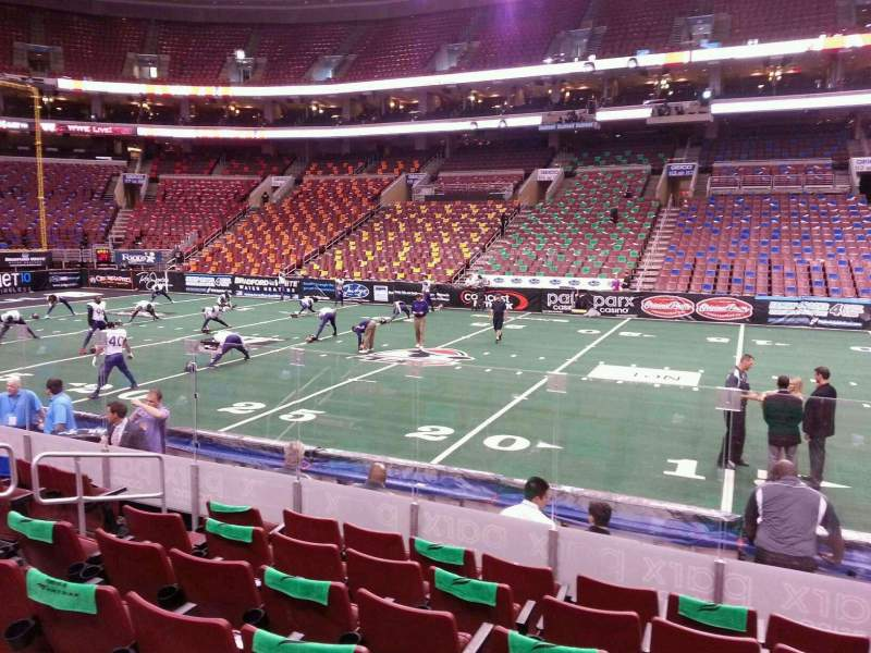 Seating view for Wells Fargo Center Section 102 Row 9 Seat 9