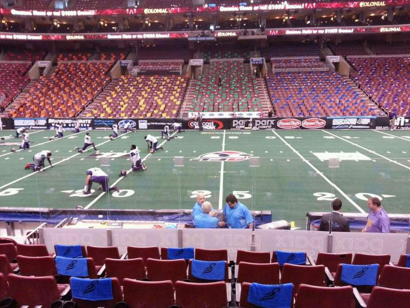 Seating view for Wells Fargo Center Section 101 Row 9 Seat 9