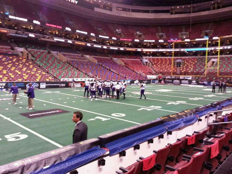 Seating view for Wells Fargo Center Section 123 Row 4 Seat 4