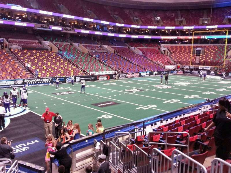 Seating view for Wells Fargo Center Section 122 Row 12 Seat 6