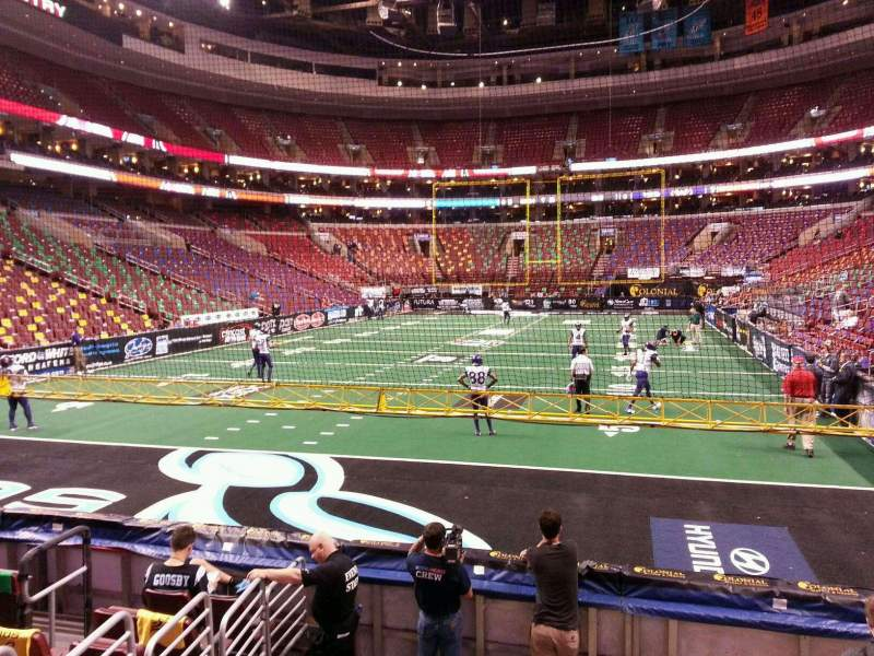 Seating view for Wells Fargo Center Section 120 Row 8 Seat 8