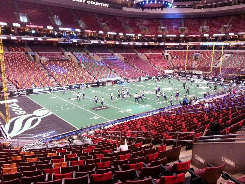 Seating view for Wells Fargo Center Section PS22 Row 1 Seat 11