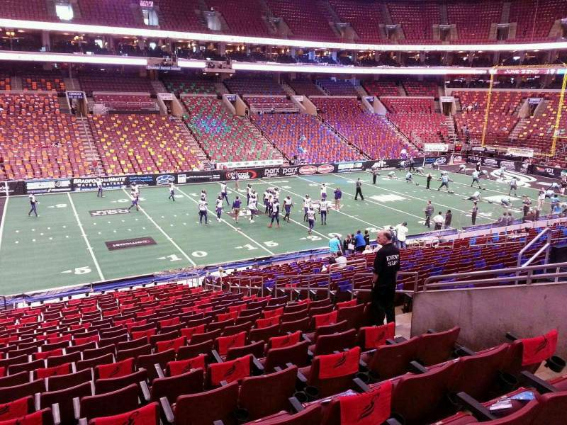 Seating view for Wells Fargo Center Section Club Box 23 Row 1 Seat 12